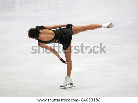 BEIJING-NOV 5: Miki Ando of Japan performs in the Ladies-Short Program event in the SAMSUNG Cup of China ISU Grand Prix of Figure Skating 2010 on Nov 5, 2010 in Beijing, China.