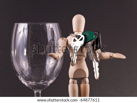 Being Holiday Safe ( Drinking and Driving Concept ) - stock photo