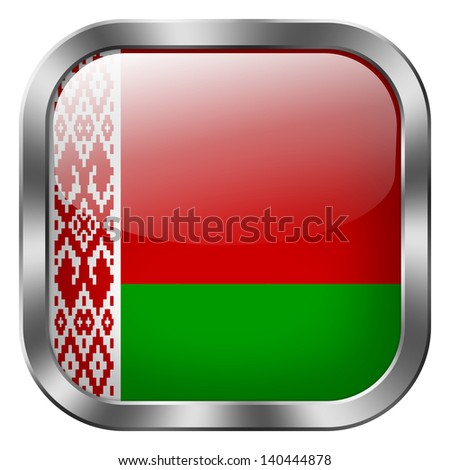 belarus flag button - stock photo