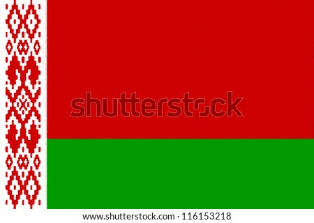 Belarus flag drawing by pastel on charcoal paper - stock photo
