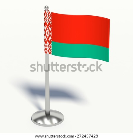 Belarus small Flag. 3d illustration on a white background. - stock photo