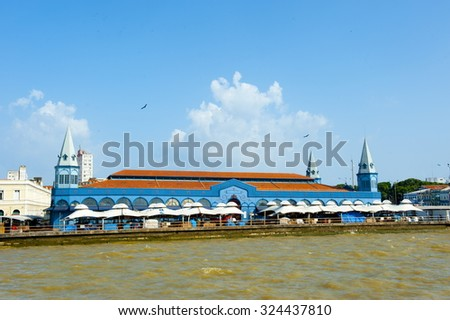 Belem, Brazil - November 18, 2015: Coast Line of Belem do Para city, ver o peso market neightborhod, north of Brazil .