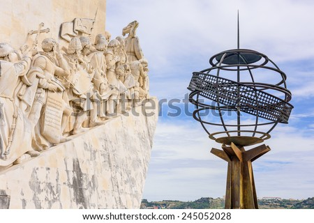 Belem, Lisbon, Portugal at the Monument to the Discoveries. - stock photo