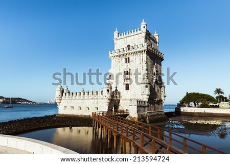 Belem tower in Lisbon - stock photo