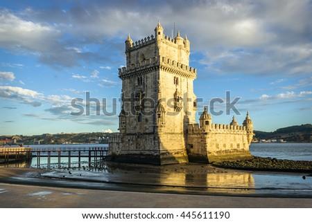 Belem Tower in Lisbon - stock photo
