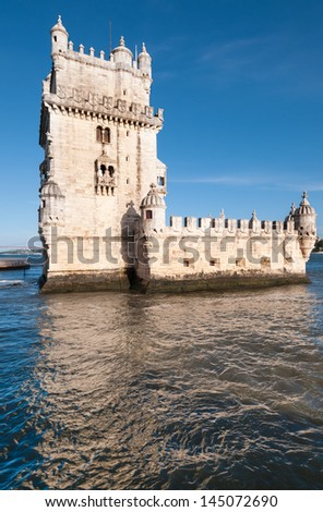 Belem Tower in Lisbon, Portugal