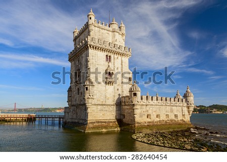 belem tower in the city of lisbon