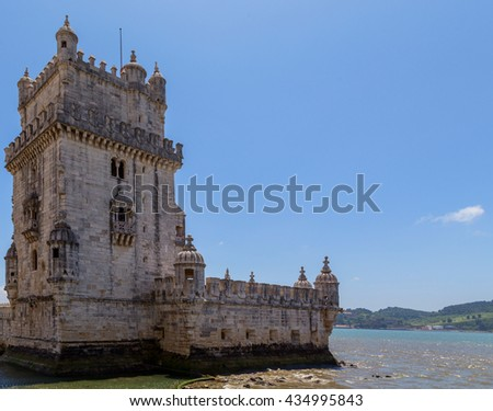 Belem Tower on the River in Lisbon, Portugal