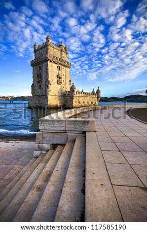 Belem Tower Portugal - stock photo