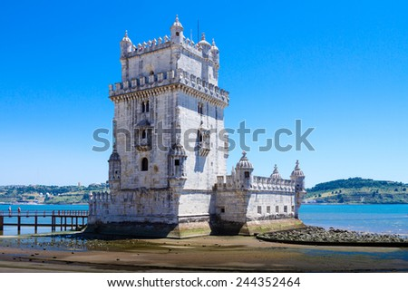 Belem Tower ( Torre de Belem) or the Tower of St Vincent is a fortified tower located in the civil parish of Santa Maria de Belem in Lisbon. It is a UNESCO World Heritage Site