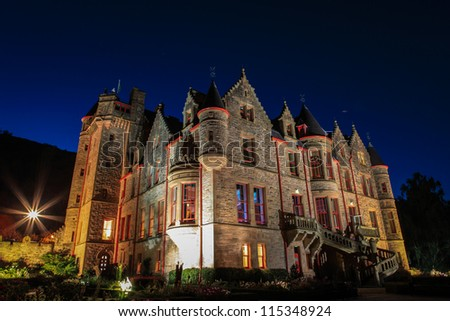 belfast castle at night - stock photo