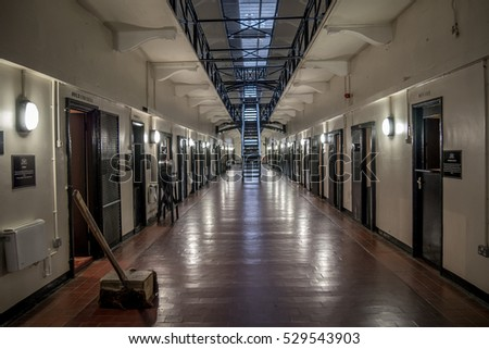 Belfast, Northern Ireland/United Kingdom - 28-11-2016 - HMP Belfast, Crumlin Road Gaol jail. The building has a listed building status because of it's architectural and historical significance.