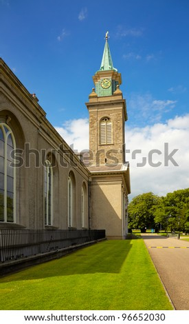 Belfry at the Irish Museum of Modern Art (IMMA) in Dublin, Ireland. - stock photo