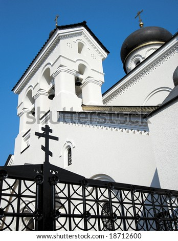 Belfry of russian church