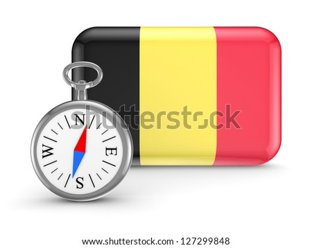 Belgian flag. - stock photo