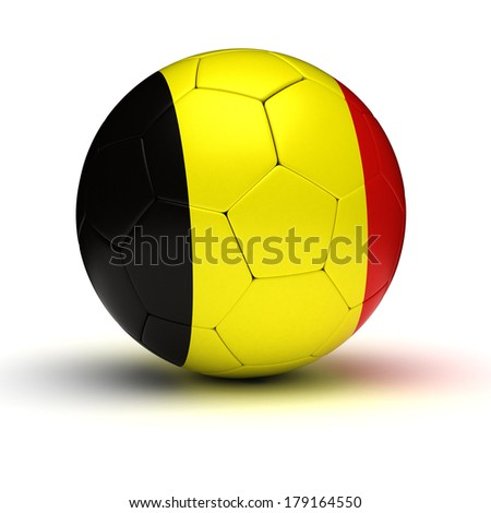 Belgian Football (isolated with clipping path) - stock photo