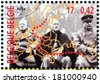 BELGIUM - CIRCA 2000: a stamp printed by BELGIUM shows Yalta (Crimea) Conference in February 1945 with Winston Churchill, Franklin D. Roosevelt and Joseph Stalin (Big Three), circa 2000. - stock photo