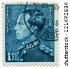 BELGIUM - CIRCA 1936: A stamp printed in Belgium, shows portrait of King Leopold III (1901-1983) stamp 1938 Brussels, circa 1936 - stock photo