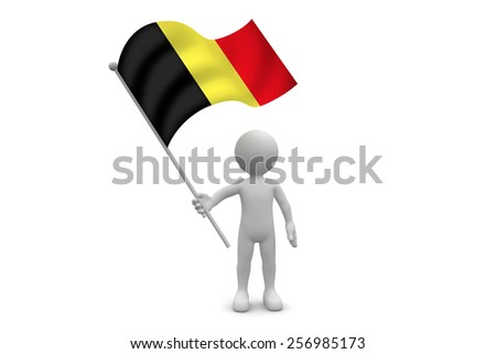Belgium Flag waving isolated on white background