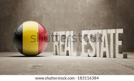 Belgium High Resolution Real Estate Concept - stock photo