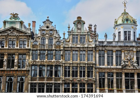 Belgium, the picturesque Grand Place of  Brussels