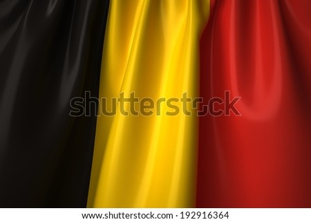 Belgium waving flag with accurate colors and design. - stock photo