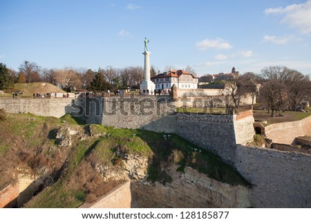 Belgrade fortress, aerial view