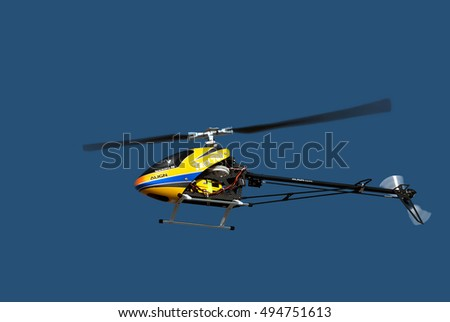 "BELGRADE-OCTOBER 1:Model helicopter on the remote contro.""Open day of the 204th Aviation Brigade Serbian Air Force"".October 1,2016 in Belgrade,Serbia"