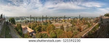 Belgrade Panorama - Serbia - stock photo