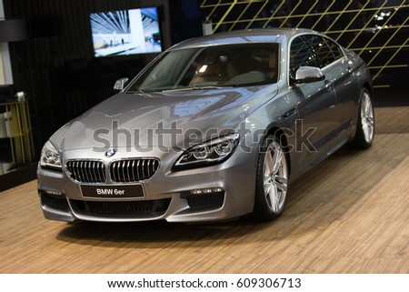 Belgrade, Serbia - March 23, 2017: New BMW 6 Series presented at Belgrade 53th International Motor Show - MSA (OICA).
