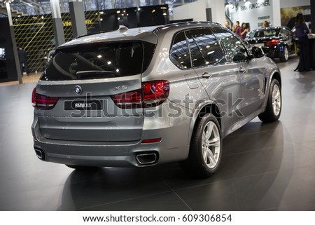 Belgrade, Serbia - March 23, 2017: New BMW X5 presented at Belgrade 53th International Motor Show - MSA (OICA).