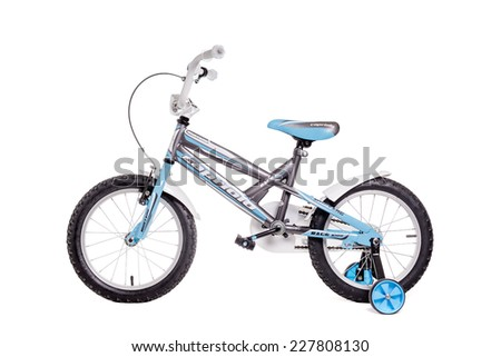 Belgrade, Serbia - October 30, 2014: Capriolo mustang kids bicycle isolated on white background. Illustrative editorial. - stock photo