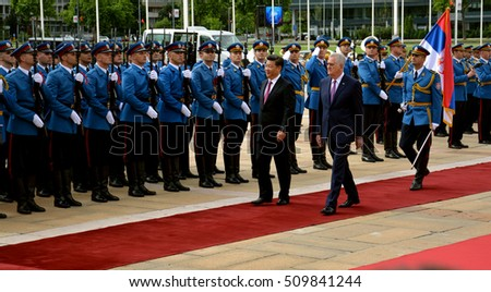 Belgrade, Serbia. 18th June, 2016. President of the Peoples Republic of China Xi Jinping on an official visit to the Republic of Serbia, at the invitation of President of Republic of Serbia