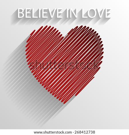 Believe in love - stock photo