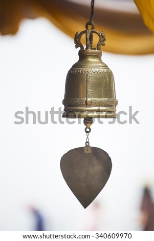 Bell at temple in Thailand - stock photo