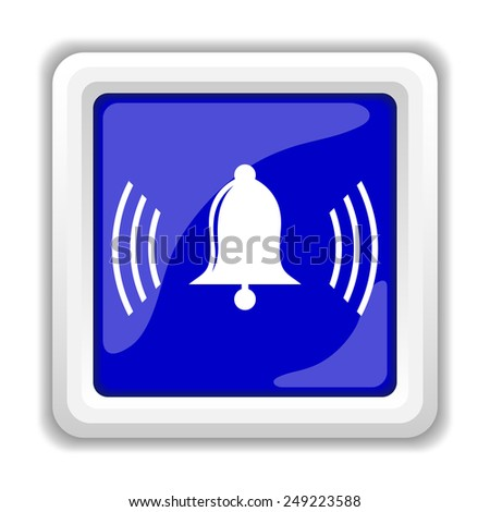 Bell icon. Internet button on white background.  - stock photo