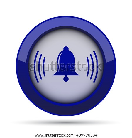 Bell icon. Internet button on white background.