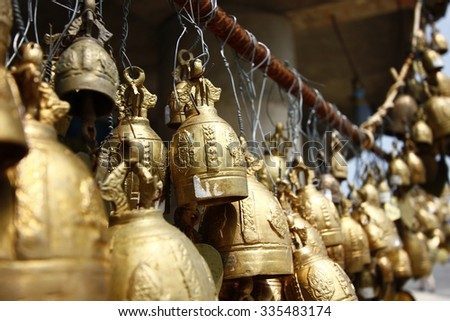 Bell in the temple - stock photo