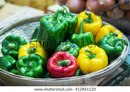 bell pepper, sweet pepper, capsicum - stock photo
