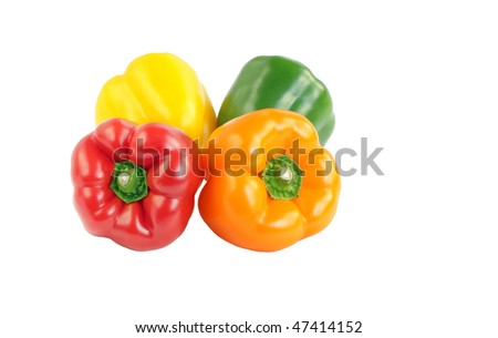 Bell peppers of different colour