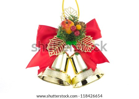 bell to decorate for Christmas - stock photo