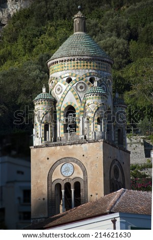 Bell tower cathedral in Amalfi