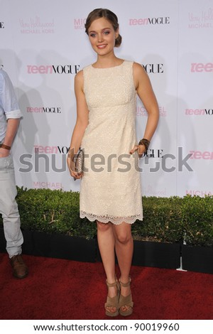Bella Heathcote at the 8th Annual Teen Vogue Young Hollywood Party in partnership with Michael Kors at Paramount Studios, Hollywood. October 1, 2010  Los Angeles, CA Picture: Paul Smith / Featureflash