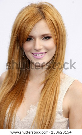 Bella Thorne at the 2012 Do Something Awards held at the Barker Hangar in Los Angeles on August 19, 2012. - stock photo