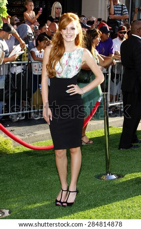 Bella Thorne at the Los Angeles premiere of 'The Odd Life Of Timothy Green' held at the El Capitan Theatre in Hollywood on August 6, 2012.  - stock photo