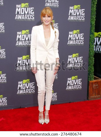 Bella Thorne at the 2013 MTV Movie Awards held at the Sony Pictures Studios in Los Angeles, United States, 140413.  - stock photo