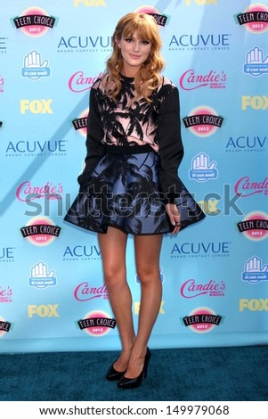 Bella Thorne at the 2013 Teen Choice Awards Arrivals, Gibson Amphitheatre, Universal City, CA 08-11-13 - stock photo