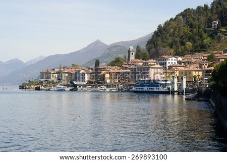 Bellagio, Italy - 13 April 2015: The village of Bellagio on lake Como, Italy