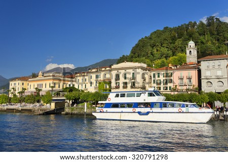 Bellagio Resort at Como Lake, Italy, Europe - stock photo