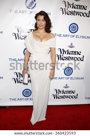 Bellamy Young at the Art Of Elysium's 9th Annual Heaven Gala held at the 3LABS in Culver City, USA on January 9, 2016.